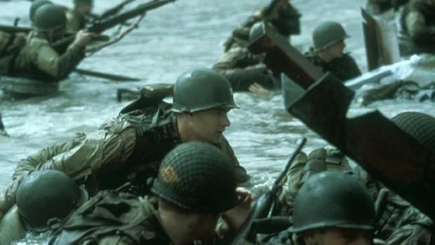"""A scene  from the film """"Saving Private Ryan."""""""