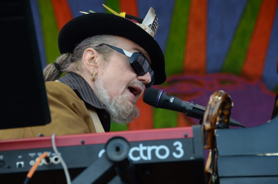 Dr. John opened the 2016 Alive at Five concert series.  The veteran pianist/guitarist/singer/bandleader is shown playing at the 2015 New Orleans Jazz & Heritage Festival. (Photo by Michael Hochanadel)