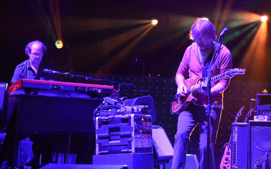 Page McConnell, left, and Trey Anastasio of Phish perform at the Saratoga Performing Arts Center in Saratoga Springs Friday, July 1, 2016.