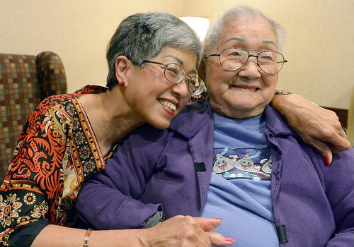 "Siu-Yueh ""Anna"" Liu will celebrate her 105th birthday on July 12. Liu a resident of the Baptist Health Nursing and Rehabilitation Center in Glenville, is pictured with her daughter Joan Ma."