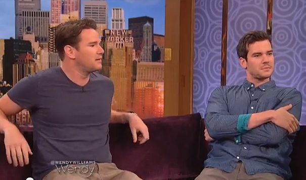 """Dave, left, and Mike Stangle during an interview on """"The Wendy Williams Show."""" (YouTube)"""