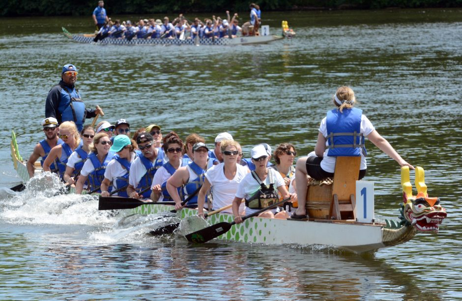 The 3rd Annual Feed the Dragon Festival was held at Mohawk Valley Marine in Alplaus on Sunday July 24, 2016. 12 teams of 21 people raced each other in 40' long Dragon Boats throughout the day. Also traditional Chinese dances, activities and family fun ...