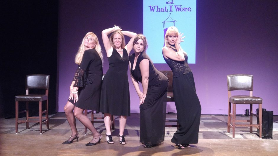 Cristine M. Loffredo, left, Amy Lane, Jennifer Van Iderstyne and Maryhelen Lunello star in 'Love Loss and What I Wore' at Curtain Call Theatre in Latham.