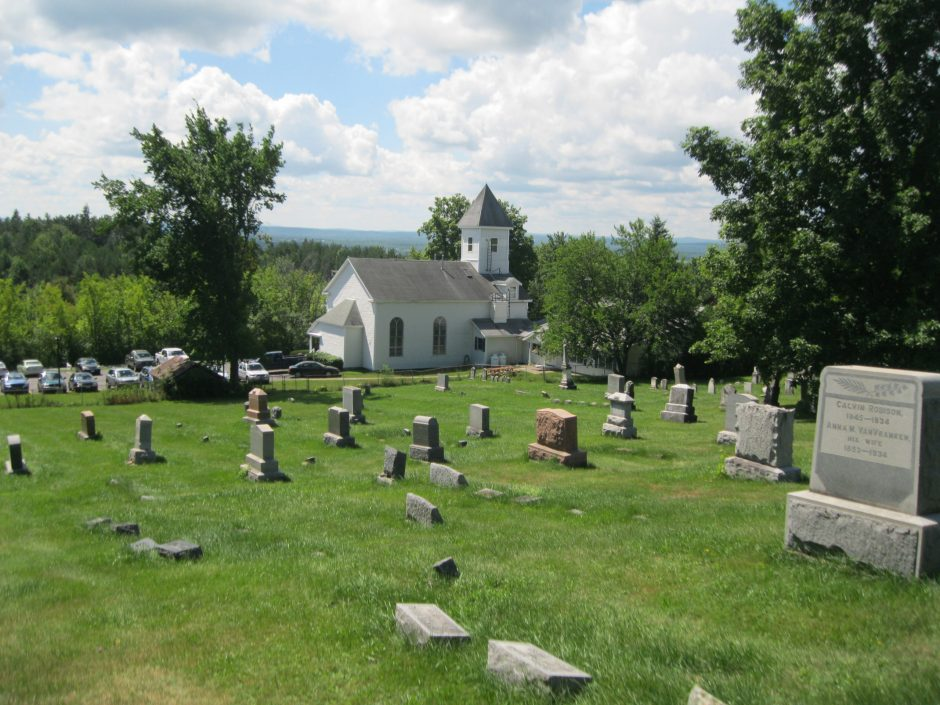 Community Fellowship at Princetown is seen from the top of Fairlawn Cemetery. (Bill Buell)