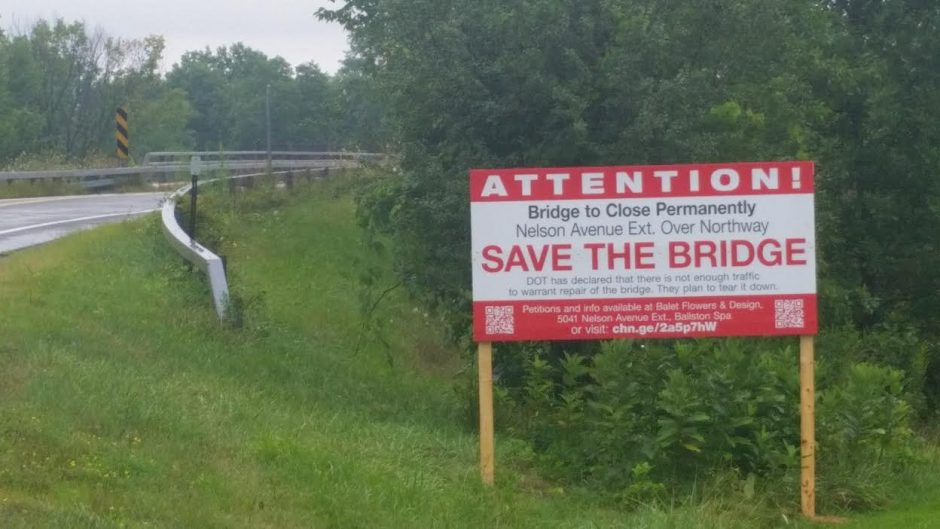 Saratoga County supervisors voted Tuesday to ask the state not to close the Nelson Avenue Extension bridge in Saratoga Springs.
