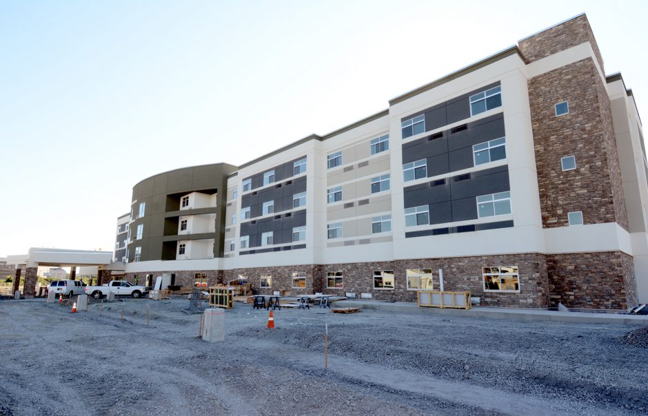 Exterior of the new Courtyard by Marriott at Mohawk Harbor that will be opening on October 18, 2016.