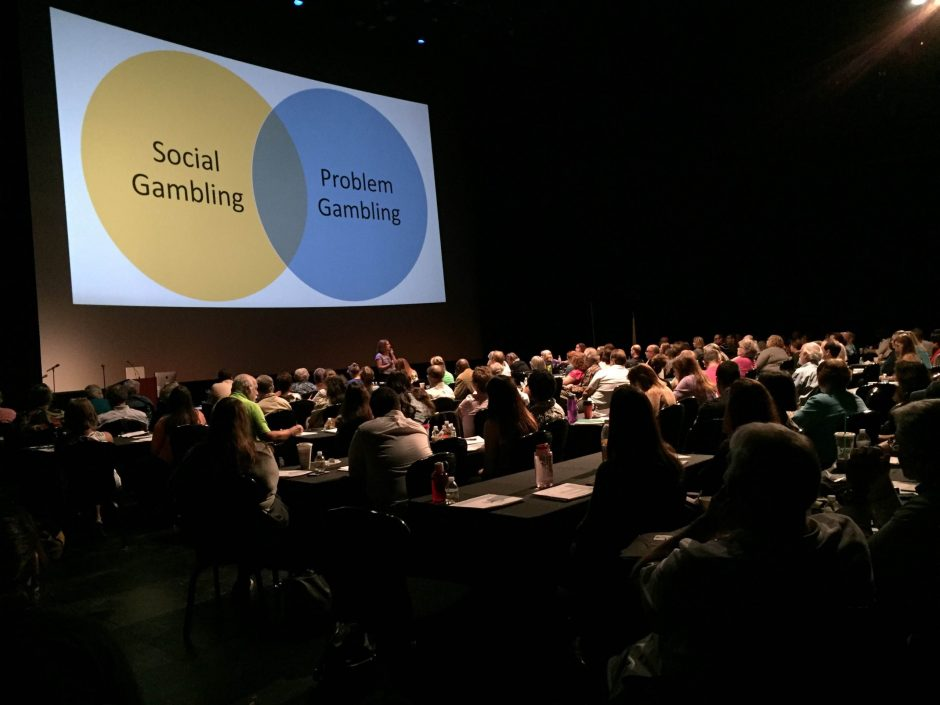 About 150 people gathered in Proctor's Theatre on Thursday morning for day one of the Problem Gambling Training Partnership conference. The two-day event came to Schenectady with a new casino scheduled to open in early 2017.