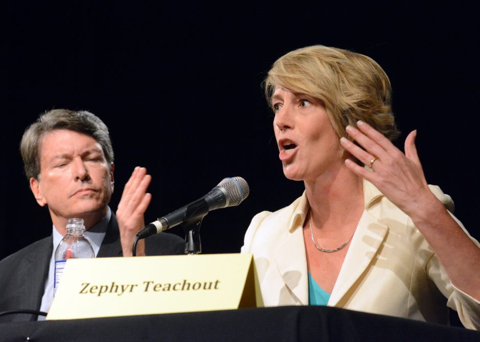 Debate between John Faso and Zephyr Teachout in the NY 19th Congressional District race held at the Linda, WAMC's performing arts studio on Thursday September 15, 2016.