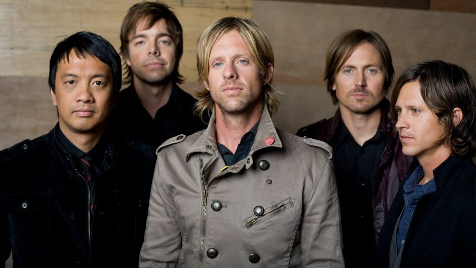 Switchfoot performs Thursday night at Upstate Concert Hall. Drew Shirley is shown second from left.