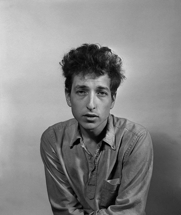 Bob Dylan in New York in 1963.