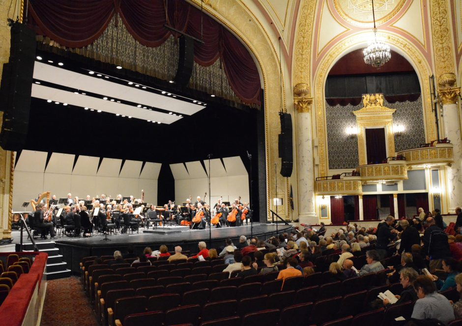 The Schenectady Symphony Orchestra, seen here in 2015, performed a full program of Halloween-appropriate delights at Proctors on Sunday.