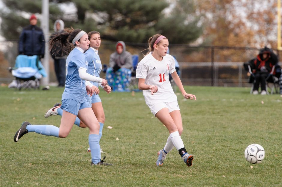 Olivia Piraino and her Niskayuna teammates will be going for a Class AA state soccer crown, while the Schoharie girls' team will be competing in Class C.