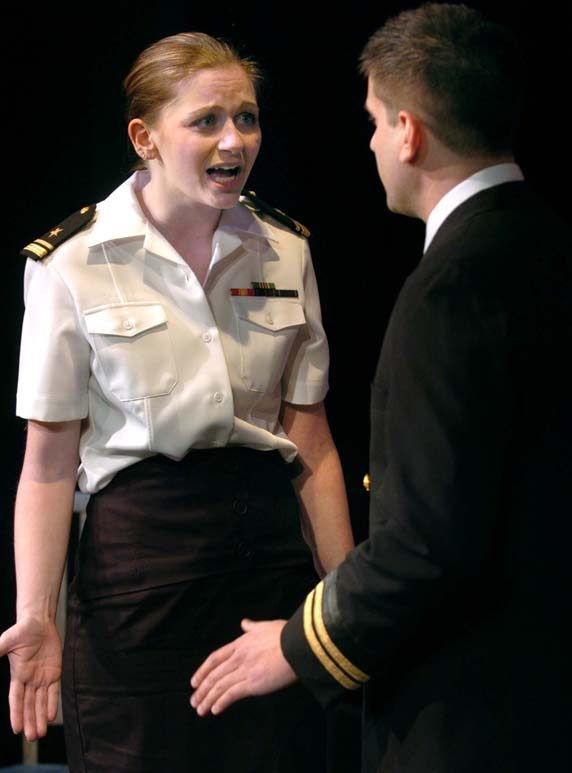 "Casey Cieszynski and Richard Mathiasen are shown in a scene from ""A Few Good Men."""