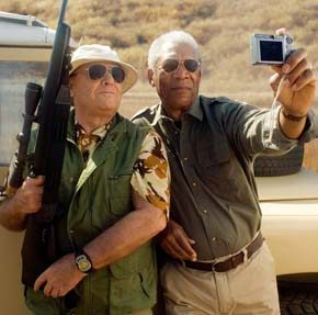 "Jack Nicholson as Edward and Morgan Freeman as Carter are shown in a scene from ""The Bucket List."""