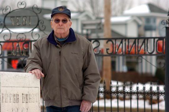 Malta town Councilman Gerald Winters stands near the front of the Dunning Street Rural Cemetery on Tuesday. Winters has been serving as caretaker of the site, but that responsibility may now go to the town.