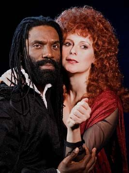 Timothy D. Stickney and Mary Jane Hansen play Macbeth and his lady in the NYSTI production.