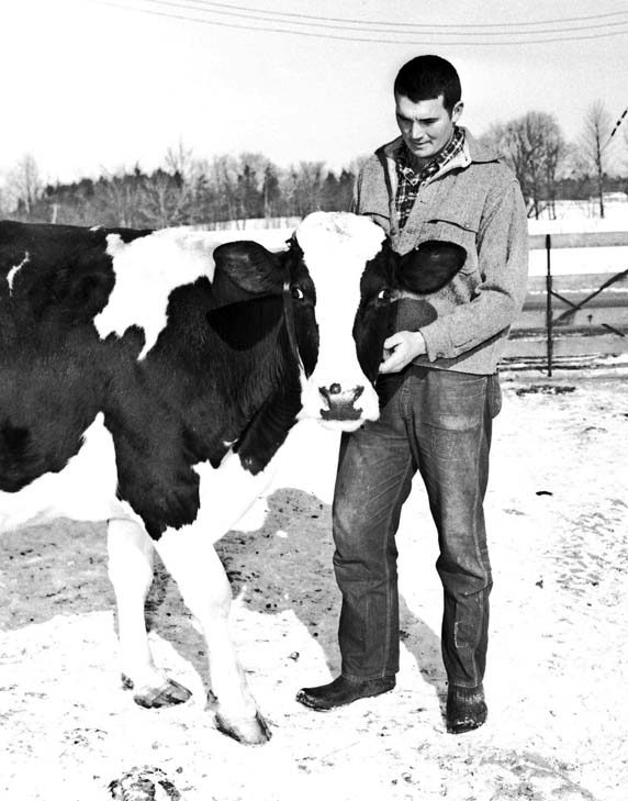 James Van Vorst has a good head on his ... hands. Folks at Glenville's longstanding Van Vorst Farm cared for livestock as part of their daily farm chores.