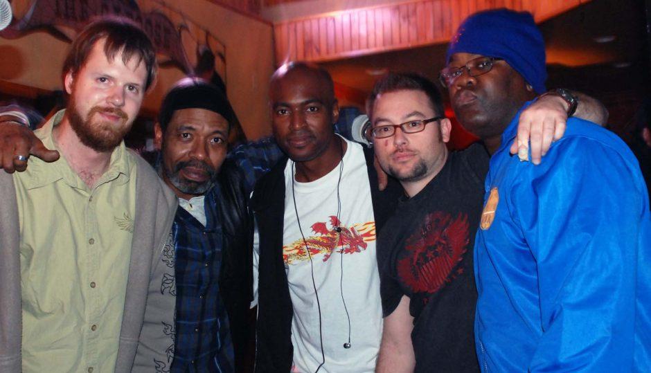 The Ill Funk Ensemble is, from left: Joe Stoner, Duane Etienne, Jermaine Wells, BJ FitzGerald, Dennis Brooks.