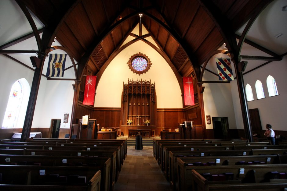 The interior of the First Reformed Church in the Stockade Historic District of Schenectady is pictured on Friday.