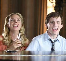 "Hope Davis and Anton Yelchin star as mother and son in ""Charlie Bartlett."""
