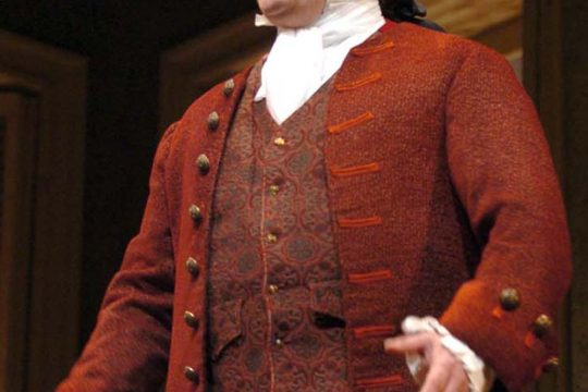 """Gary Lynch portrays John Adams in the New York State Theatre Institute production """"1776."""""""