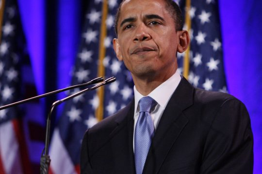 Democratic presidential hopeful Sen. Barack Obama D-Ill., speaks about race during an address in Philadelphia on Tuesday morning.
