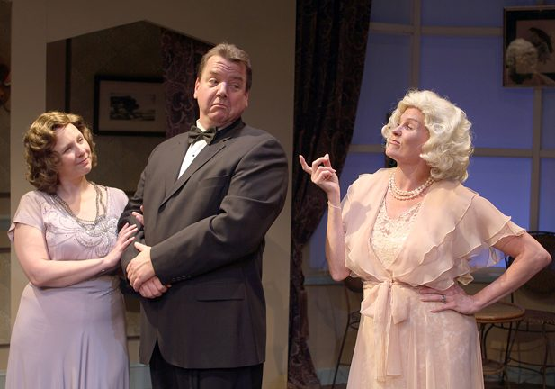 "Jean T. Carney, Robert L. Hegeman and Cristine Loffredo, from left, rehearse a scene from Noël Coward's ""Blithe Spirit,†opening Friday at the Schenectady Civic Playhouse. (photo: TOM KIL"