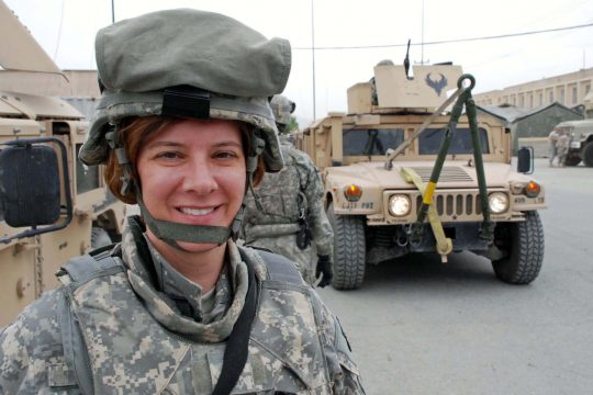 Warrant Officer Priscilla Burnah of Waterford is pictured in Afghanistan.
