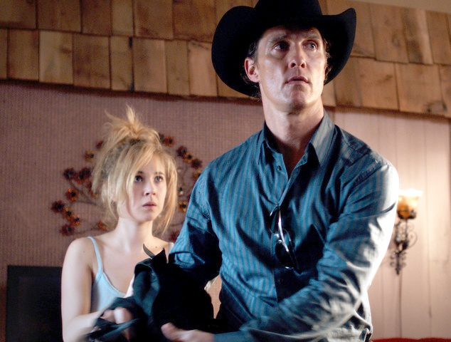 "Matthew McConaughey plays cop/hit man Joe Cooper and Juno Temple plays Dottie Smith in ""Killer Joe.â€"