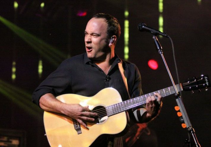 Dave Matthews is shown performing with his band at SPAC on June 8, 2012.