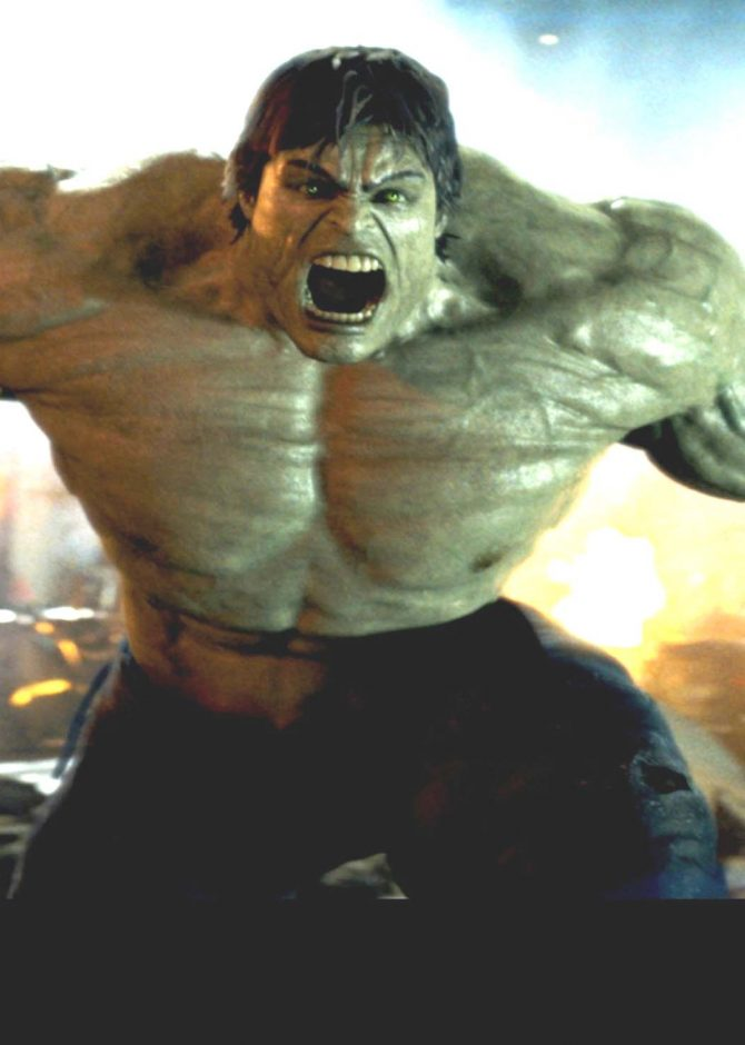 """The Hulk is seen in action in the film """"The Incredible Hulk."""""""