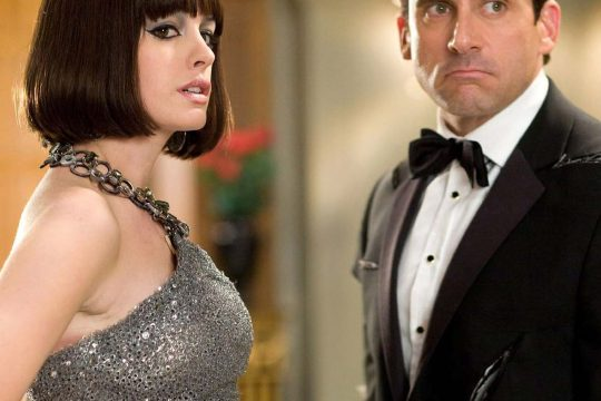 """Anne Hathaway as Agent 99 and Steve Carell as Maxwell Smart in """"Get Smart."""""""
