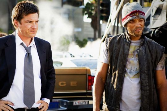 """Will Smith, right, and Jason Bateman are shown in a scene from """"Hancock."""""""