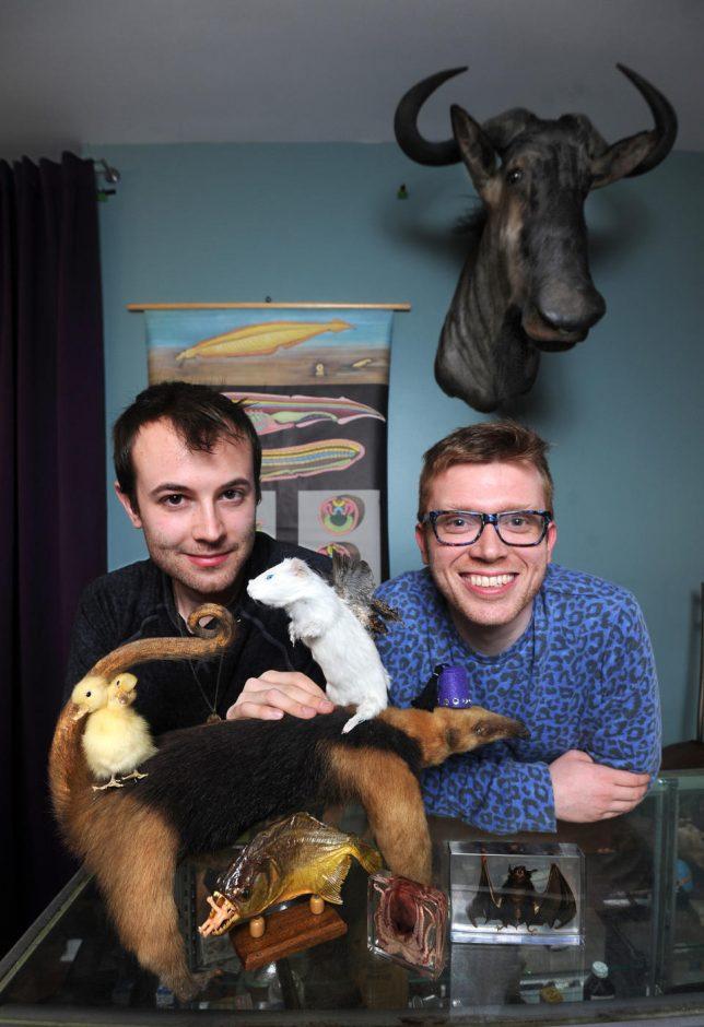 Brian Henry, left, and Greg Hatem, owners of Bazaar in Baltimore's Hampden neighborhood. (Baltimore Sun photo)