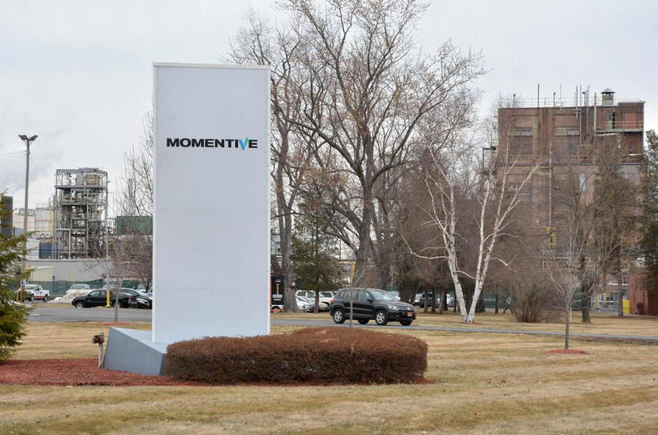 Momentive Performance Material is on the verge of filing for bankruptcy protection. Pictured on Monday is the Waterford plant at 260 Hudson River Road.