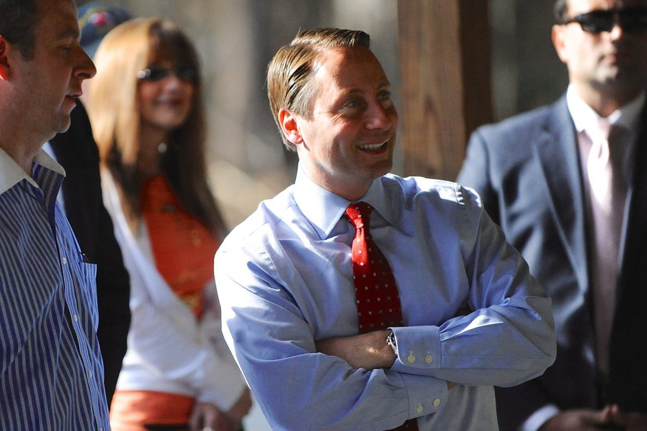 Republican gubernatorial candidate Rob Astorino spoke at the Pine Tree Rifle Club in Johnstown on Monday.