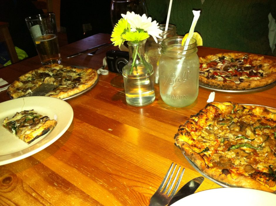 Pizza selections are simple, and delicious, at Hearth & Harvest in Saratoga Springs.