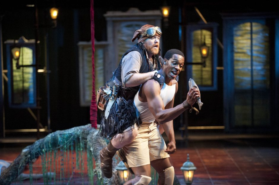 Michael F. Toomey, left, and Colby Lewis star in Shakespeare & Company's 'A Midsummer Night's Dream,' set in jazz-era New Orleans. (Kevin Sprague/Shakespeare & Company)