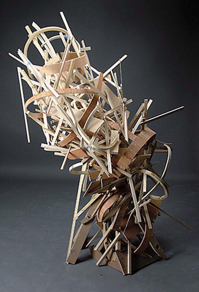 "Leila Novakowski's sculpture ""Vortex"""