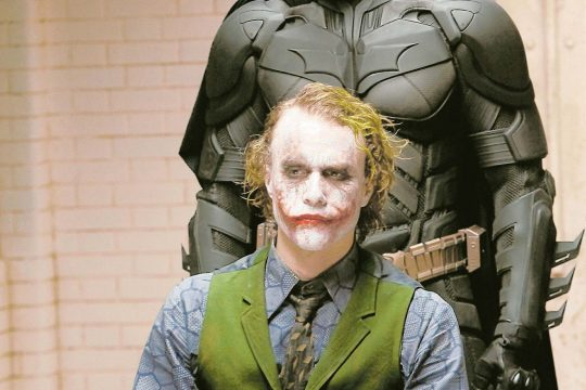 """Christian Bale portrays Batman and the late Heath Ledger is The  Joker in """"The Dark Knight."""""""