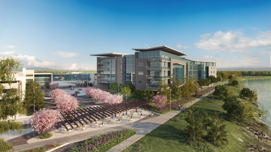 A rendering of the proposed Rivers Casino & Resort at Mohawk Harbor in Schenectady.