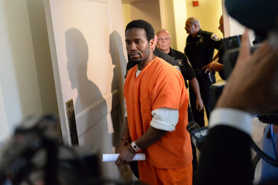 Michael Briggs is led out of Schenectady County Court after being sentenced to 30 years to life for the murder of former nun Mary Greco in Schenectady last year, on Friday, August 29, 2014.