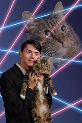 Schenectady High School senior Draven Rodriguez wants this photo with his cat, Mr. Bigglesworth, to be his portrait in the school yearbook.