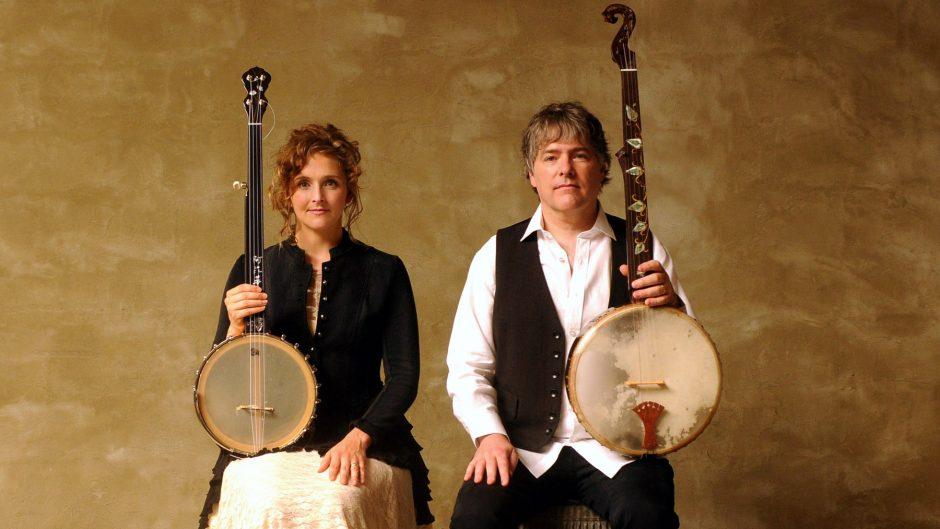 Bela Fleck and Abigail Washburn play banjos together at 8 p.m. at the Troy Savings Bank Music Hall on Friday.