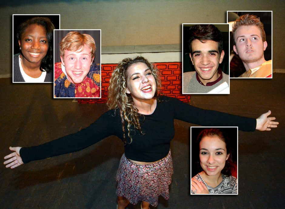 These six performers will lend their talents to school plays in the coming weeks. At center is Marina Macherone of Mohonasen High School. She is joined by, clockwise from top left, Genausha Moses (Schenectady High School), Micaiah Siemski (Amsterdam Hi...