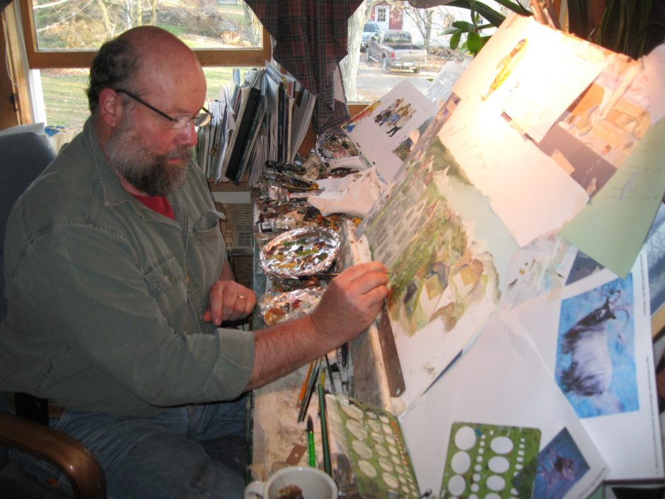 Painter Will Moses, great-grandson of primitive artist Grandma Moses, continues the family folk art tradition.