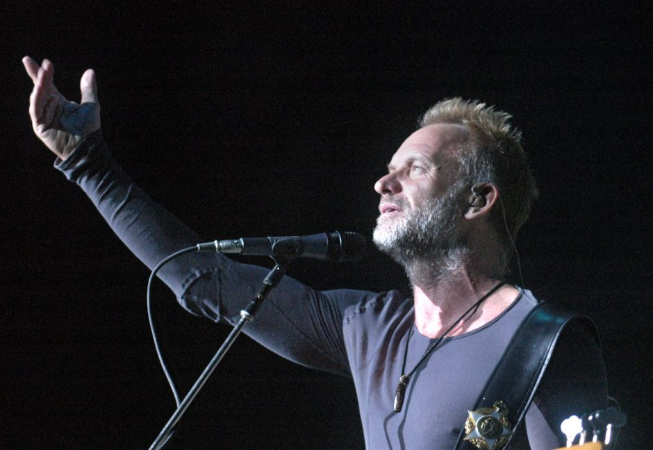Sting and The Police perform at SPAC Friday night.