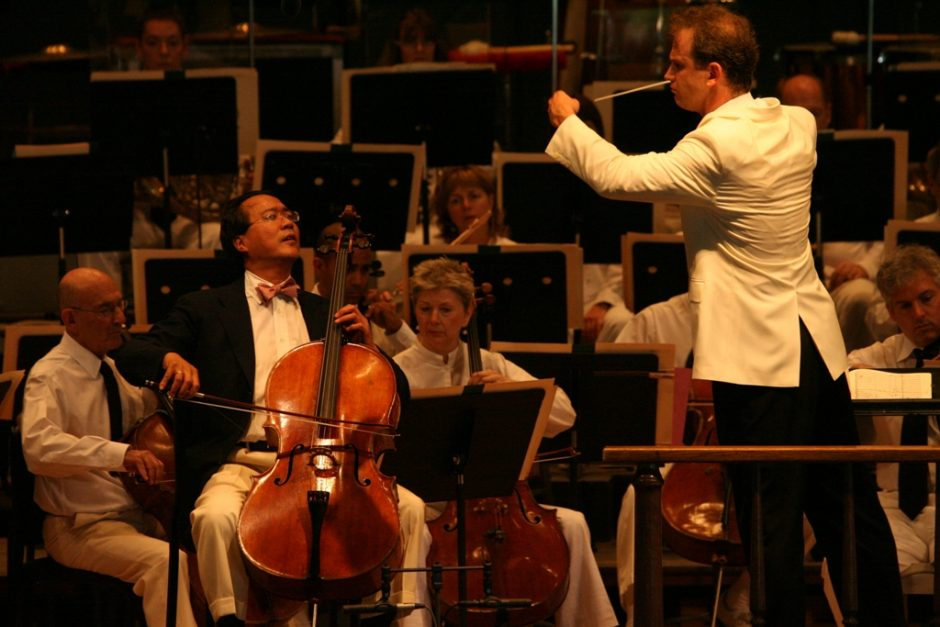 Yo-Yo Ma performs with the Boston Symphony Orchestra on Sunday at Tanglewood as Carlos Miguel Prieto, making his BSO debut, conducts.