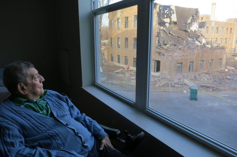 Glendale Home resident Albert Kausch has been keeping tabs on the demolition of the former campus since it began in October.