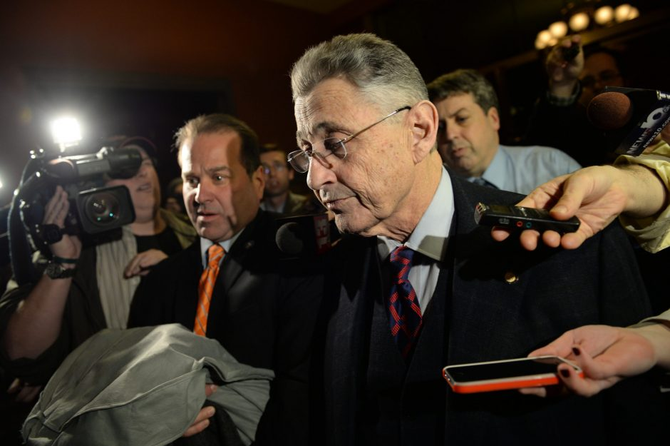 Assembly Speaker Sheldon Silver leaves his office at the Capitol building in Albany on Tuesday, January 27, 2015 after a second day of democratic conference to discuss his future as leader.